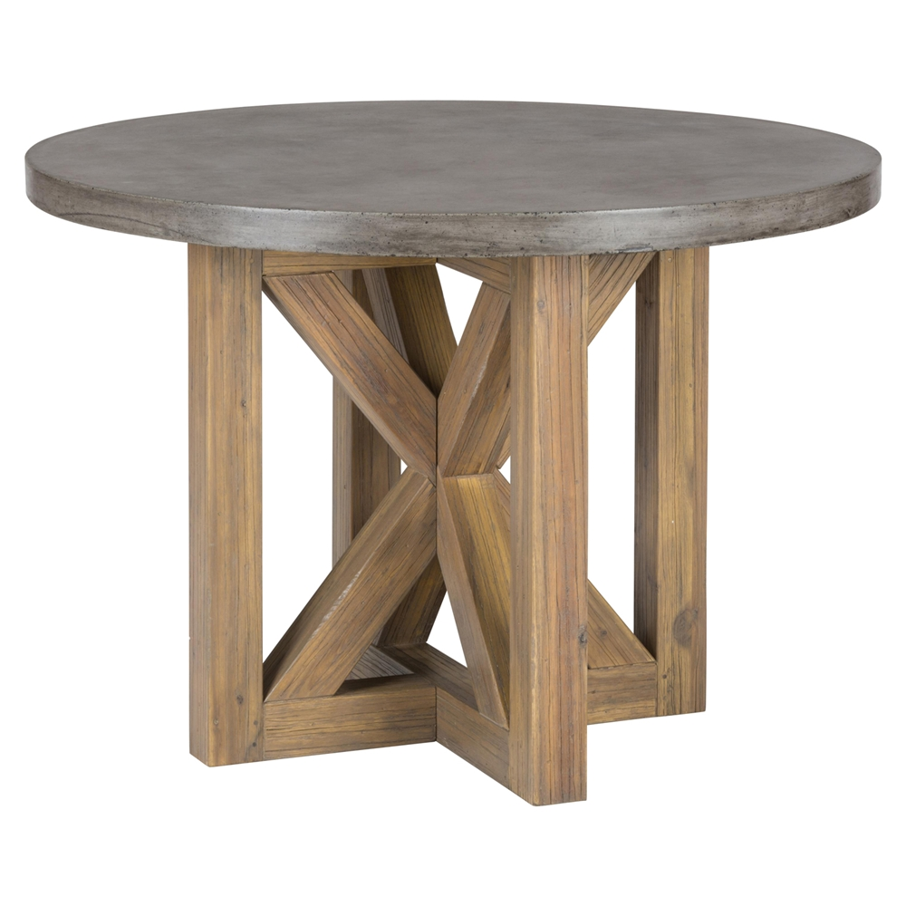 boulder ridge round dining table concrete top pedestal base dcg stores. Black Bedroom Furniture Sets. Home Design Ideas