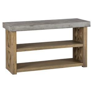 Boulder Ridge Server - Concrete Top, 2-Shelf