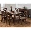 Tucson 7 Pieces Dining Set - Ceramic Tile, Brown - JOFR-794-64-221KD-SET