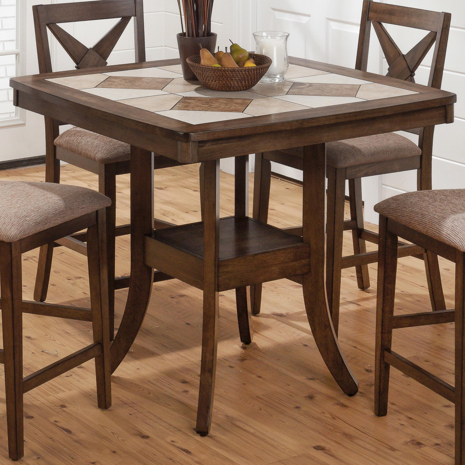 Tucson 40quot Counter Height Table Ceramic Tile Brown  : 794 40 from www.dcgstores.com size 1000 x 1000 jpeg 792kB