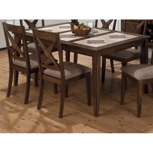 Tucson dining table ceramic tile brown dcg stores