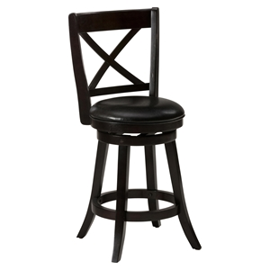 Aaron Pub Stool - Upholstered Seat, Swivel