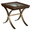Ashland Square End Table - Rich Chocolate - JOFR-834-3
