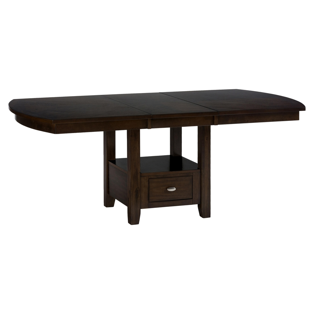 Mirandela high low dining table with storage base dcg stores - High top dining table with storage ...