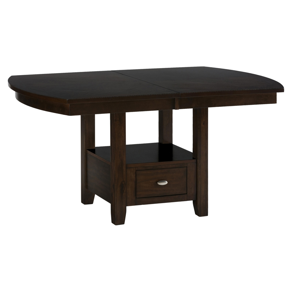 Mirandela high low dining table with storage base dcg stores for Dining table shelf