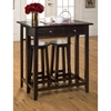 Roasted Java 3 Pieces Breakfast Table and Stools - JOFR-8520