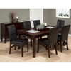 Chadwick Dining Table - Crackled Glass Inserts, Espresso - JOFR-863-72