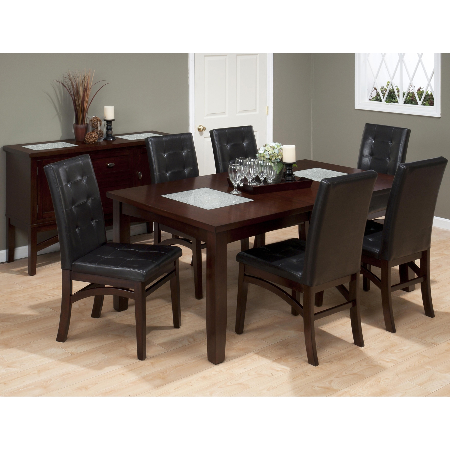 Chadwick Dining Chair - Faux Leather, Tufted Back, Espresso - JOFR-863-945KD