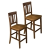 Kura Slat Back Counter Height Stool - Espresso and Canyon Gold - JOFR-875-BS265KD