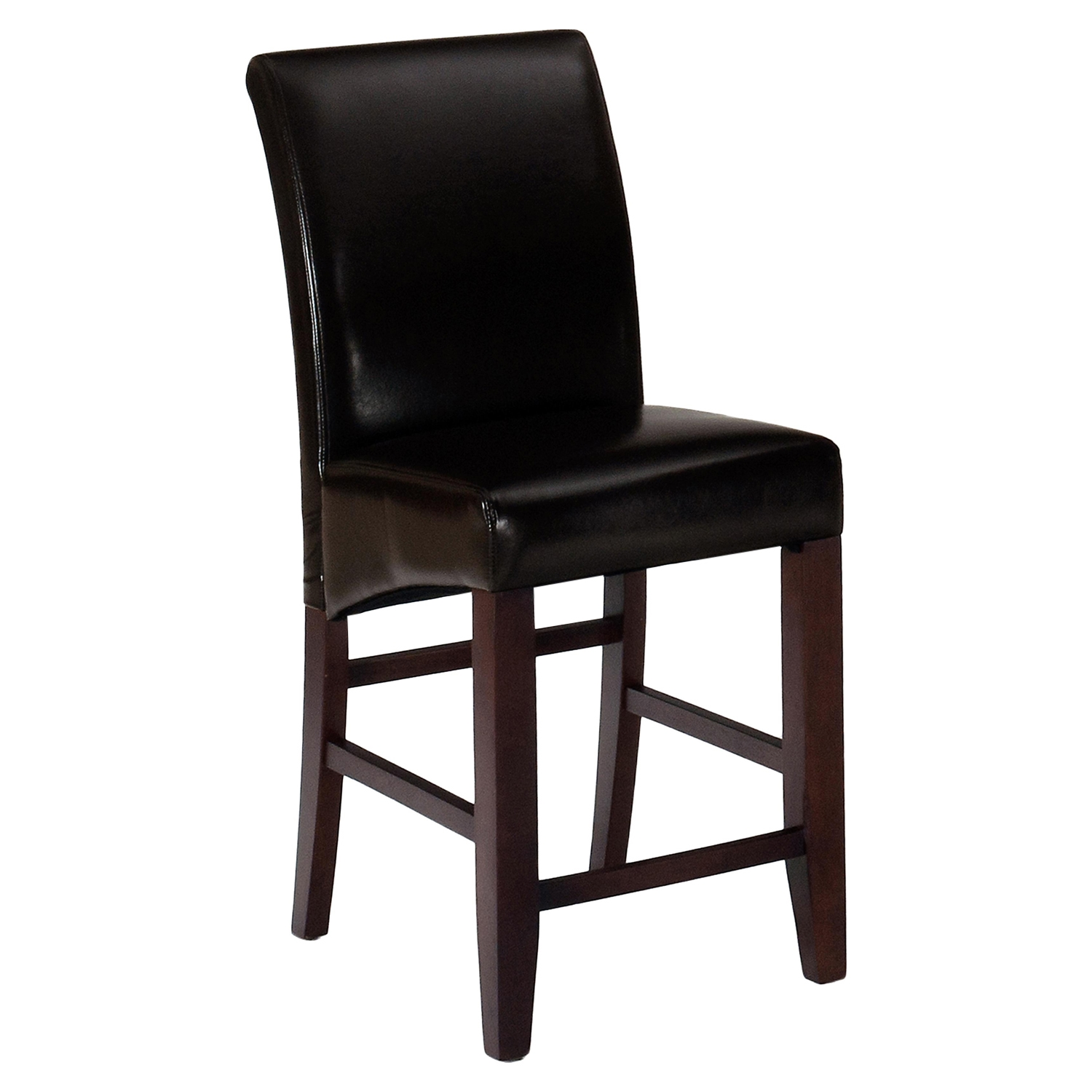 Bonded Leather Counter Height Stool - Cherry - JOFR-888-BS485KD