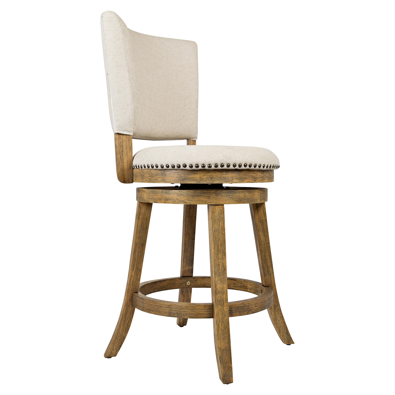 Turner's Landing 7 Pieces Dining Set - Swivel Stools, Extension Table, Light Tobacco - JOFR-916-60-BSS333KD-SET