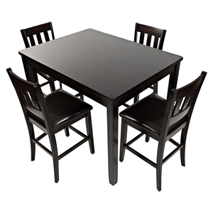 Dark Rustic Prairie 5 Pieces Counter Height Dining Set - Dark Brown