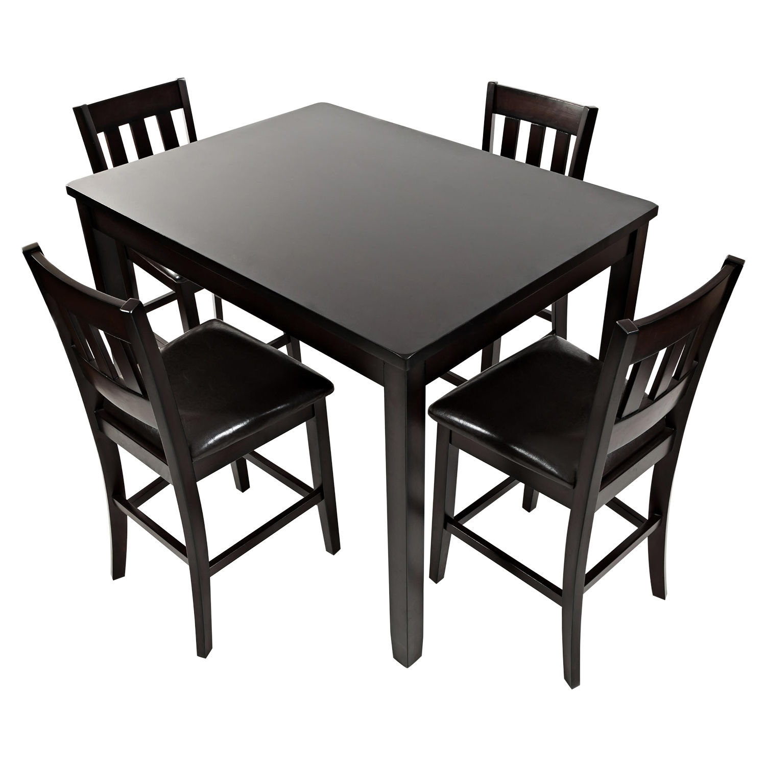 Dark Rustic Prairie 5 Pieces Counter Height Dining Set