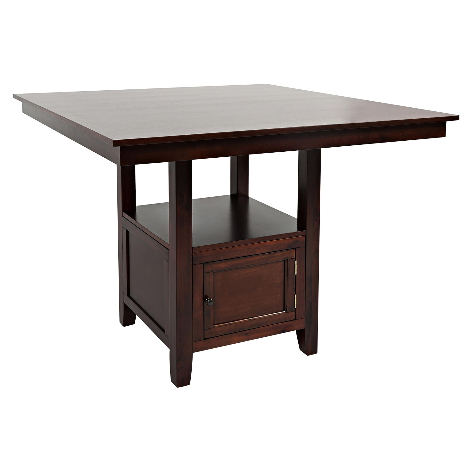 Tessa Chianti Counter Height Table - Storage Base, Brown - JOFR-933-48TBKT