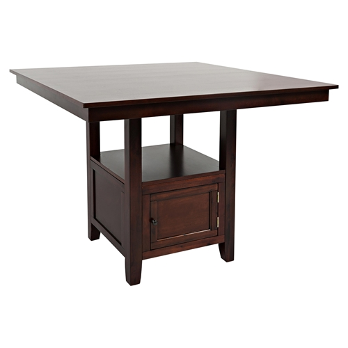 Tessa Chianti Counter Height Table - Storage Base, Brown DCG Stores