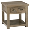 Slater Mill Square End Table - Brown - JOFR-940-3