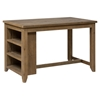 Slater Mill Counter Height Table with 3 Shelves Storage - Brown - JOFR-941-60