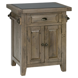 Slater Mill Pine 1-Drawer Kitchen Cart - Brown