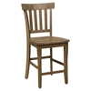 Slater Mill Slat Back Stool - Brown - JOFR-941-BS831KD