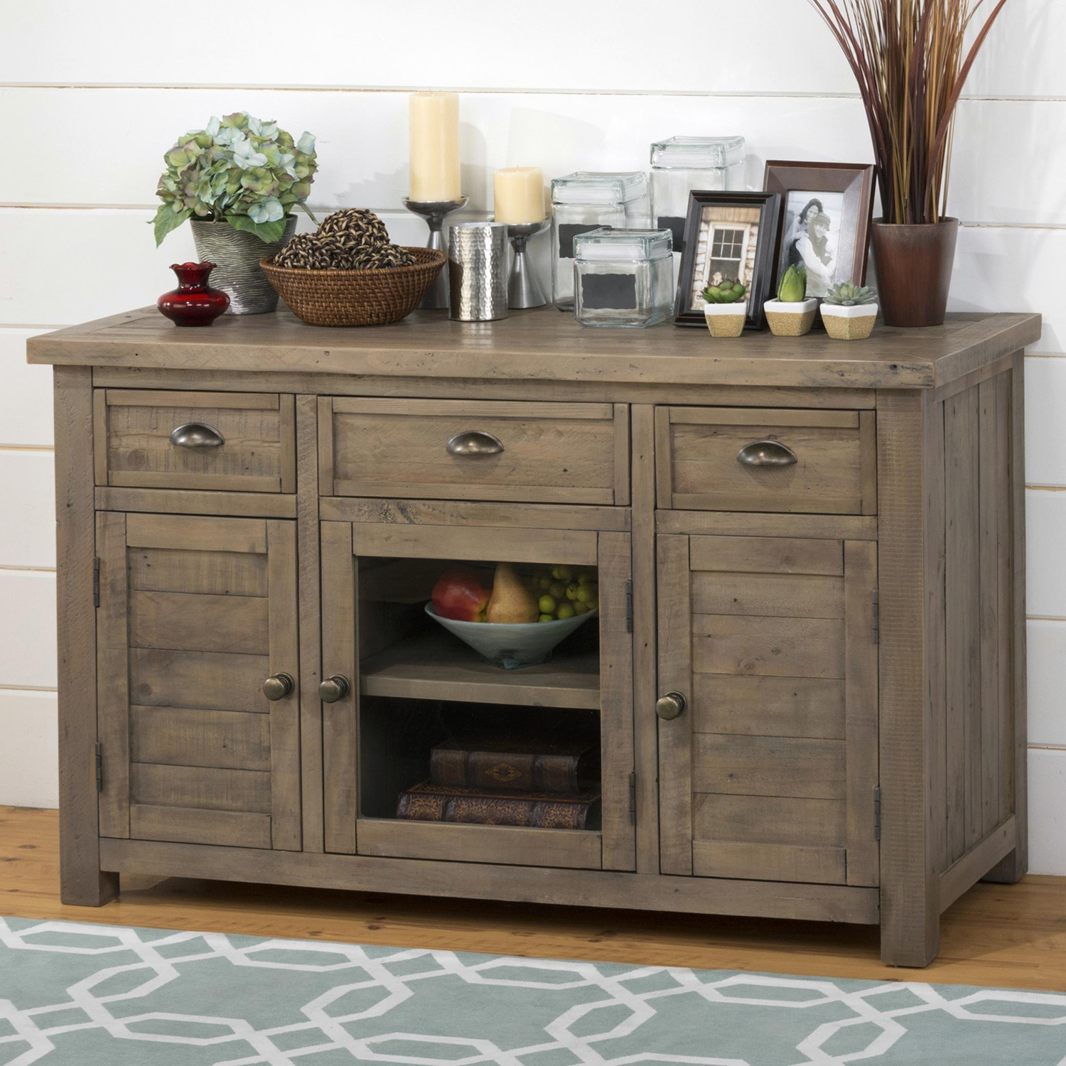 "Slater Mill Pine 50"" Media Unit - Brown - JOFR-942-50"