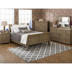Slater Mill Sleigh Bedroom Set - Brown