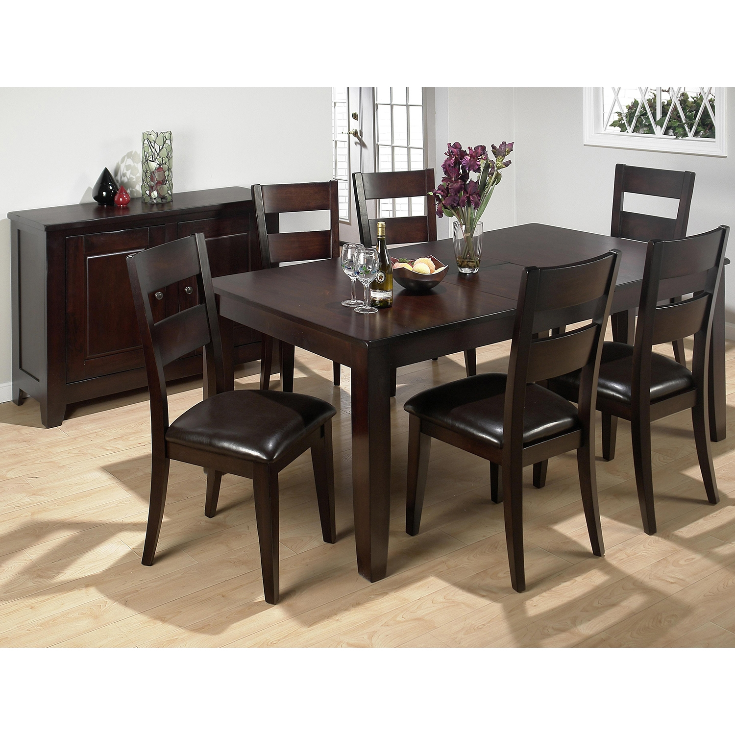 Dark Rustic Prairie Rectangular Dining Table with Butterfly Leaf - JOFR-972-77