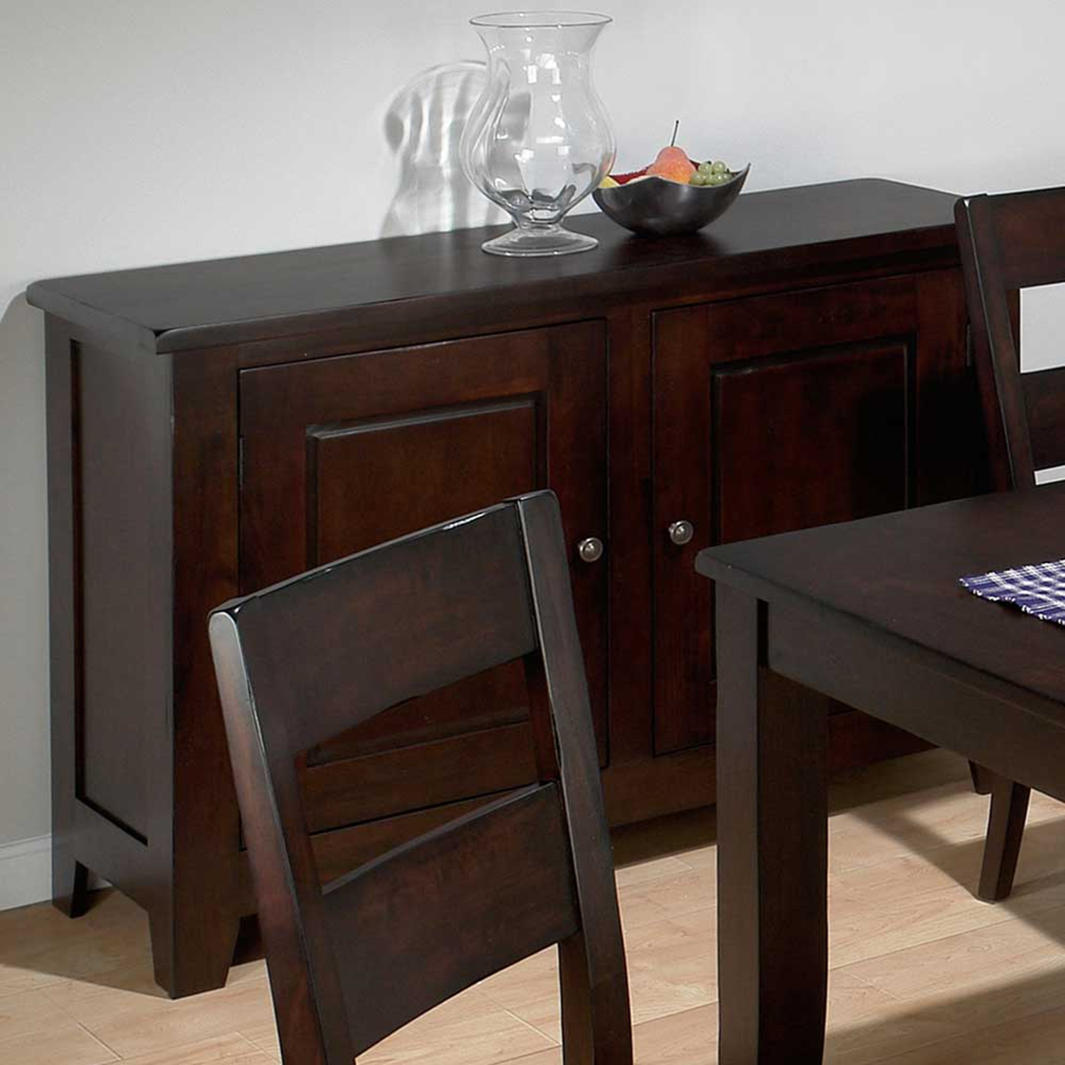 Dark Rustic Prairie Server - 2 Doors, Removable Wine Rack - JOFR-972-99