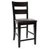 Dark Rustic Prairie Ladderback Counter Stool - JOFR-972-BS762KD