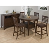 Caleb Weave Back Counter Height Stool - Brown - JOFR-976-BS515KD
