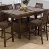 Caleb Counter Height Table - Brown, Butterfly Leaf - JOFR-976-72TBKT