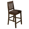 Caleb Slat Back Counter Height Stool - Brown - JOFR-976-BS671KD