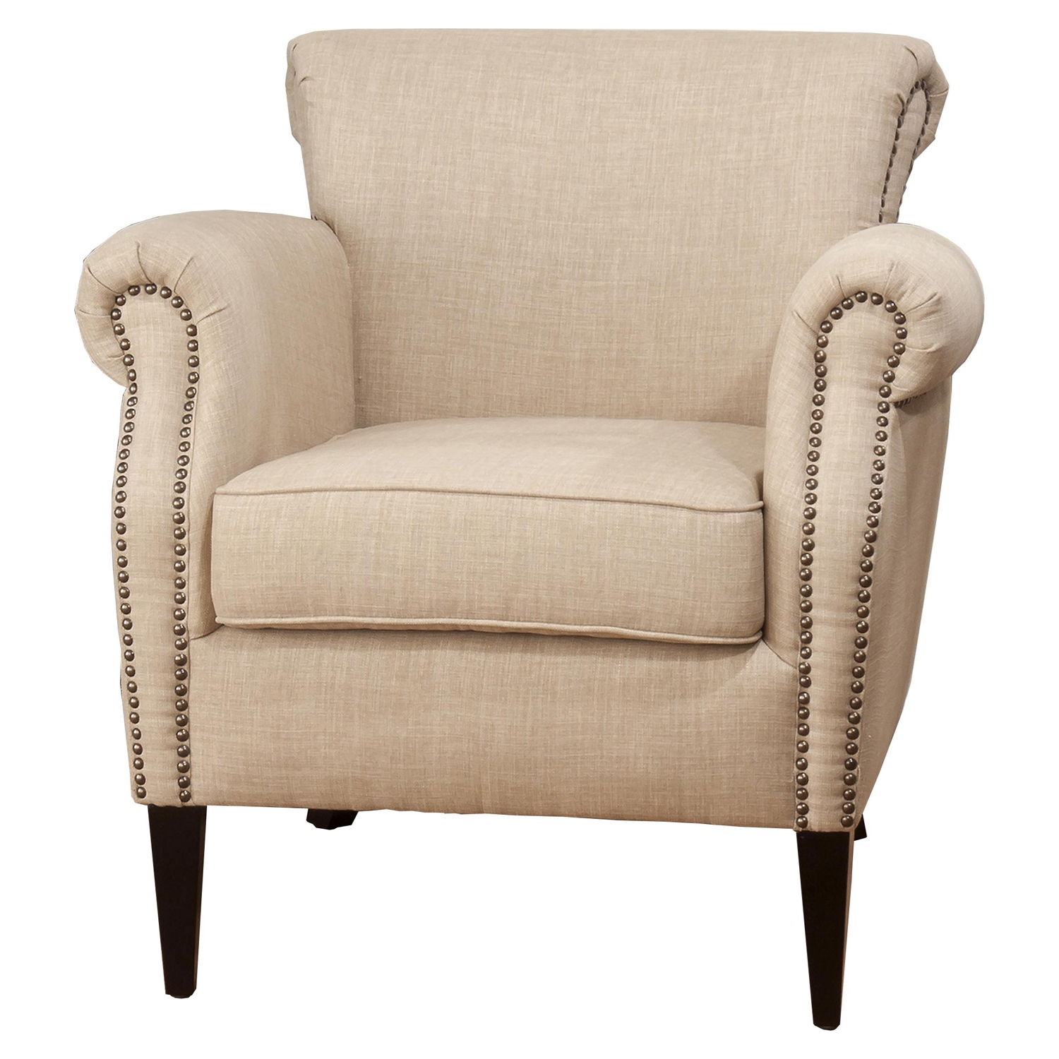 Emma Nailhead Club Chair - Wheat - JOFR-EMMA-CH-WHEAT