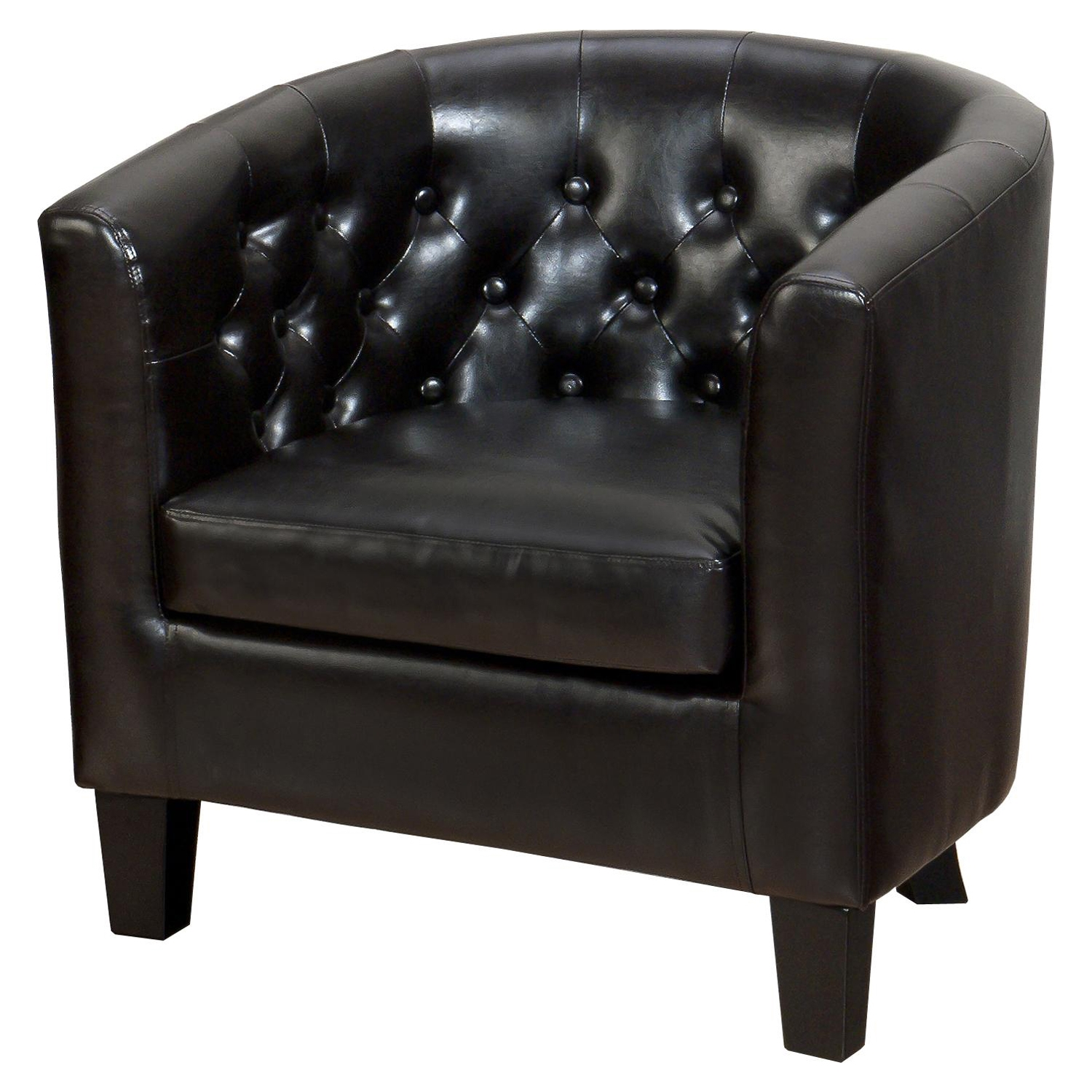 Gianni Tufted Club Chair - Chestnut - JOFR-GIANNI-CH-CHESTNUT