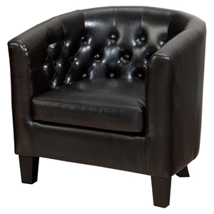 Gianni Tufted Club Chair - Chestnut