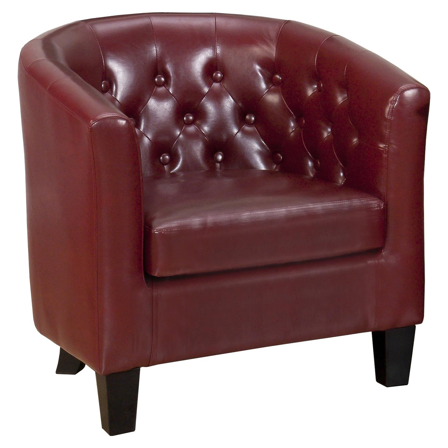 Gianni Tufted Club Chair - Red - JOFR-GIANNI-CH-RED