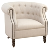 Grace Tufted Club Chair - Natural - JOFR-GRACE-CH-NATURAL