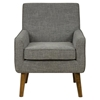 Mila Mod Button Tufted Accent Chair - Charcoal Gray - JOFR-MILA-CH-CHARCOAL