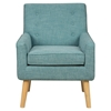 Mila Mod Button Tufted Accent Chair - Peacock Blue - JOFR-MILA-CH-PEACOCK