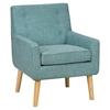 Tremendous Mila Mod Button Tufted Accent Chair Peacock Blue Dcg Stores Dailytribune Chair Design For Home Dailytribuneorg