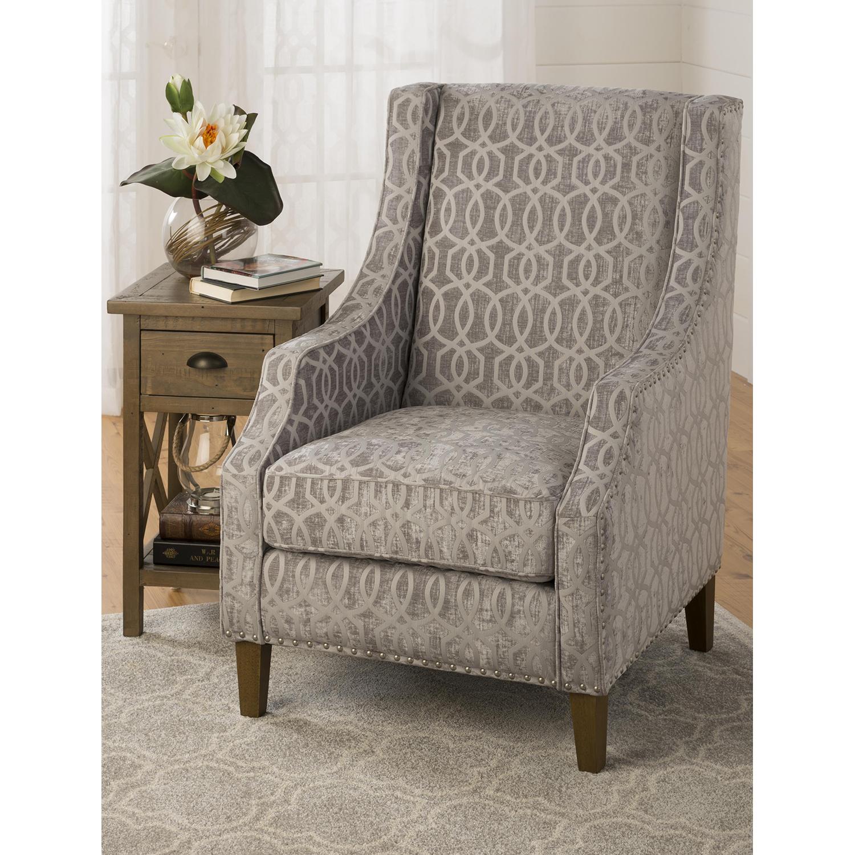 ... Quinn Nailhead Accent Chair   Dove Gray   JOFR QUINN CH DOVE