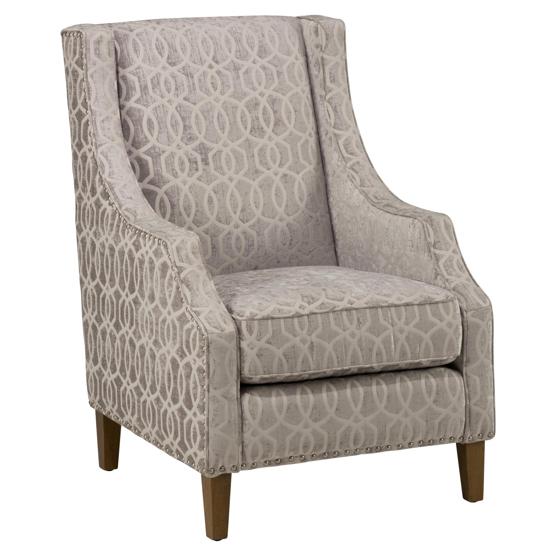 Quinn Nailhead Accent Chair   Dove Gray   JOFR QUINN CH DOVE ...