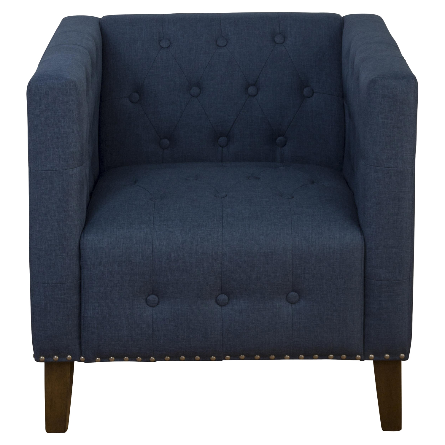 Zoe Tufted Nailhead Accent Chair - Blue - JOFR-ZOE-CH-BLUE