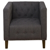 Zoe Tufted Nailhead Accent Chair - Charcoal - JOFR-ZOE-CH-CHARCOAL