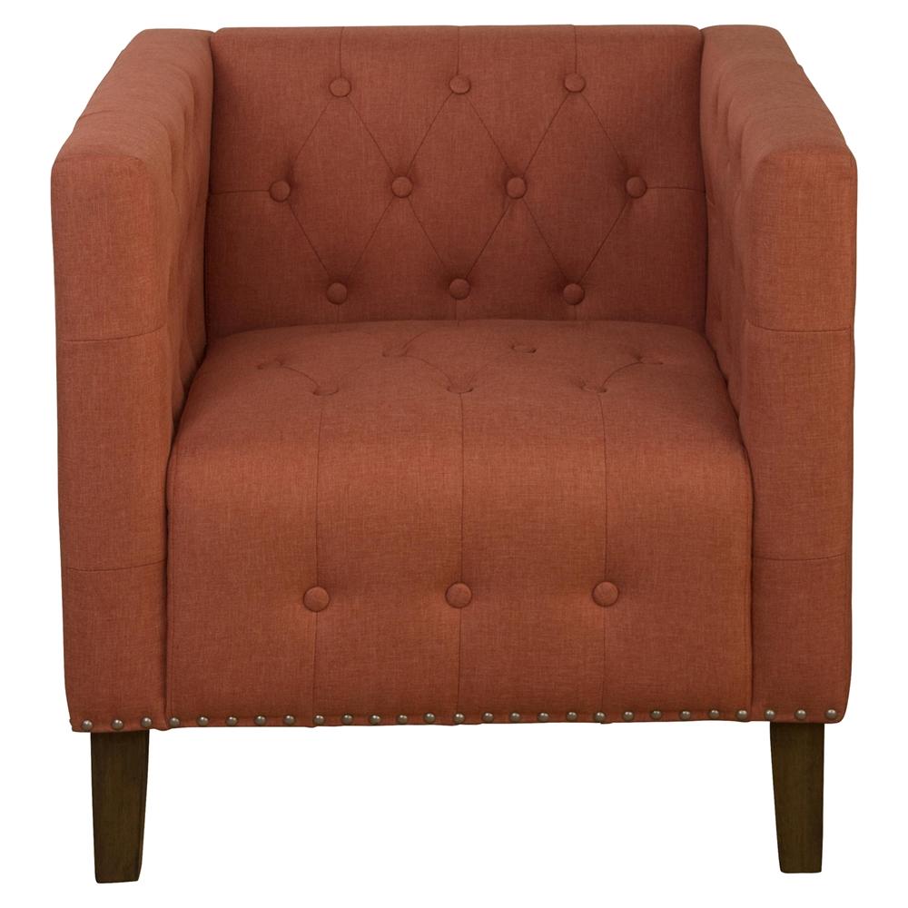 Zoe Tufted Nailhead Accent Chair Mango Dcg Stores