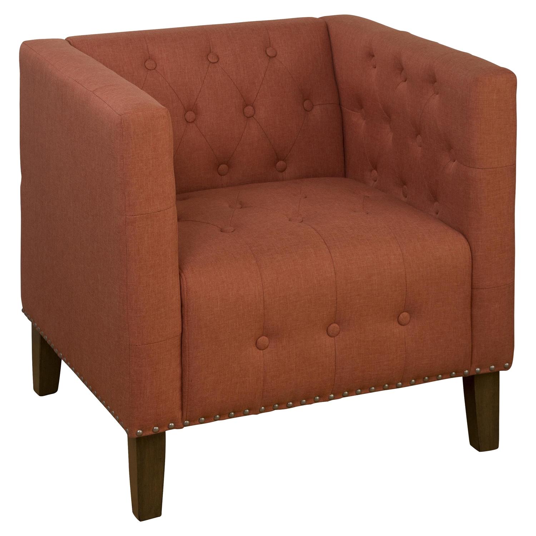 Zoe Tufted Nailhead Accent Chair Mango