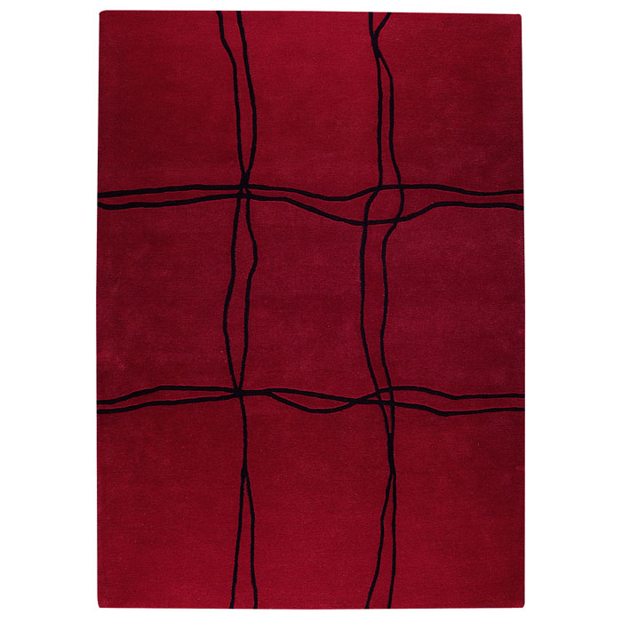 Caelyn Hand Tufted Wool Rug in Red