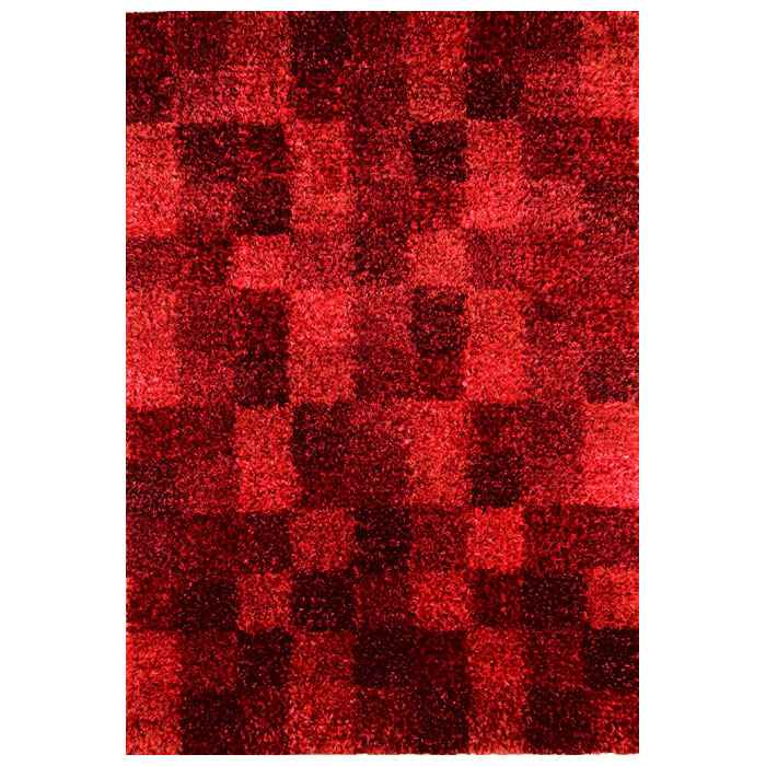 Daley Hand Woven Shaggy Rug in Wine Red