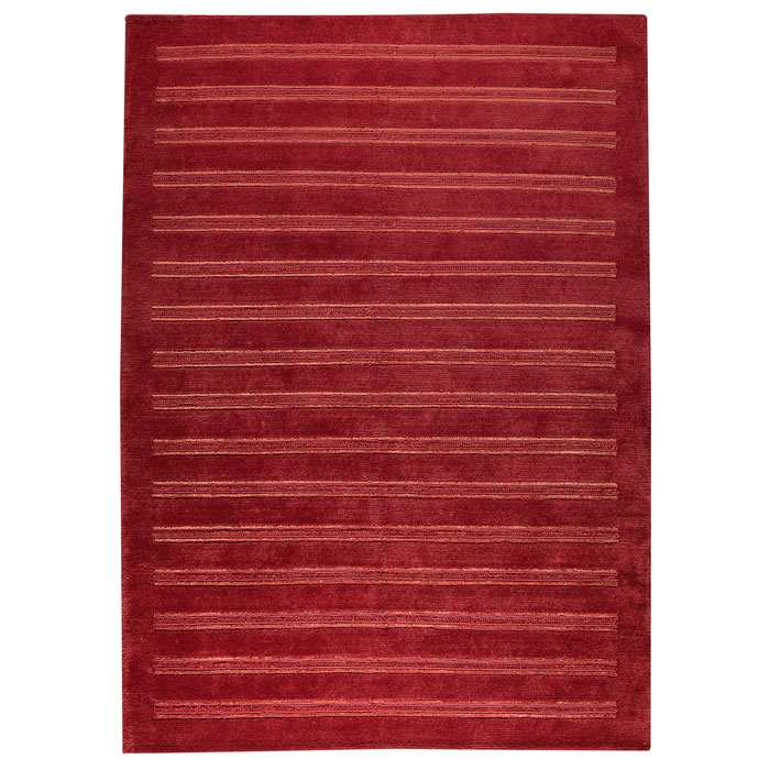 Dunstan Indo Tibetan Hand Knotted Rug in Red