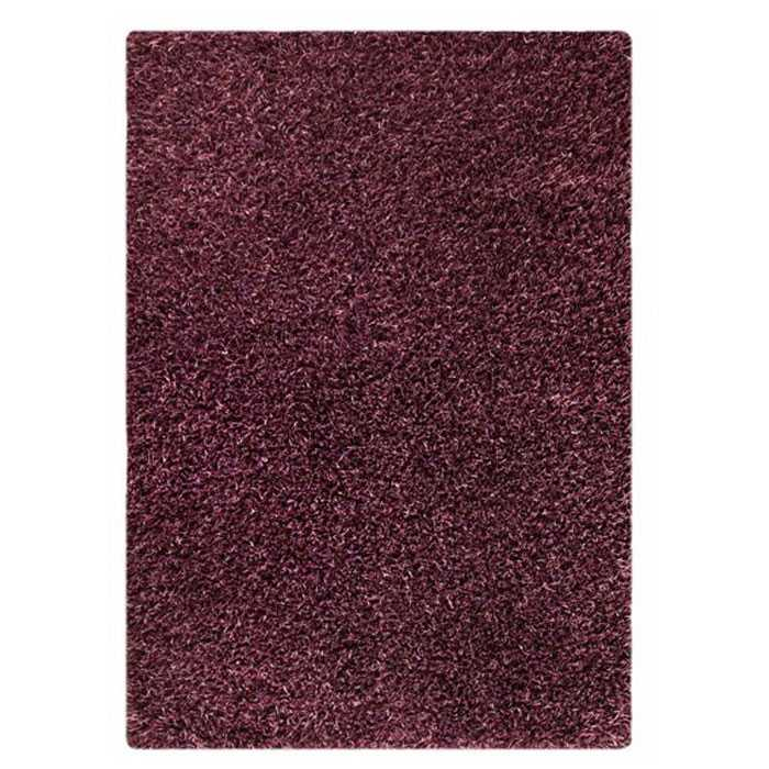 Evonne Hand Woven Polyester Shaggy Rug in Purple