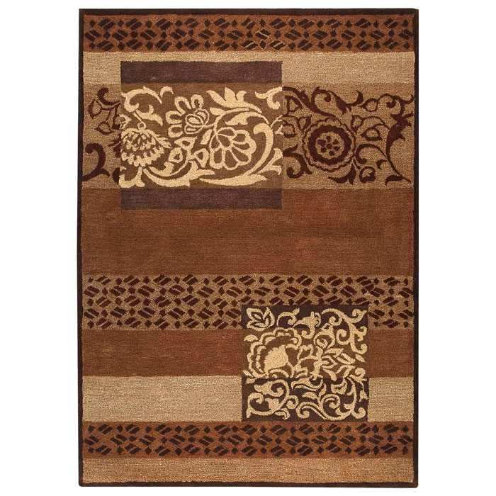 Gypsy Hand Tufted Wool Rug in Brown
